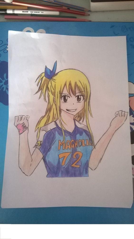 j'ai dessiné Lucy de fairy tail :d