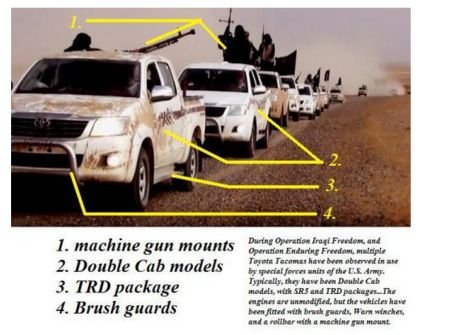 Why does ISIS have Texas-made Toyota trucks modified for U.S. Special forces?
