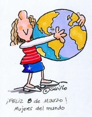Mujer abrazando al mundo - Feliz día de la Mujer #diadelamujer