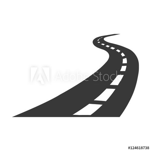 Road Icon In Black Style Isolated On White Background Logistic Symbol Stock Vector Illustration Photo Logo Royalty Free Images Vector Illustration