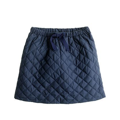 Girls' quilted puffer skirt from crewcuts