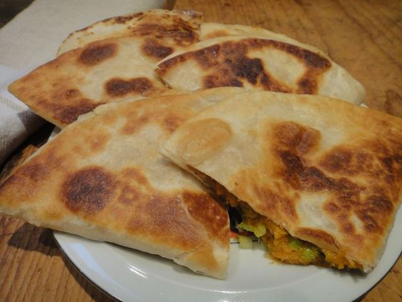 Sweet potato afghan flat bread bolani potato bread for Afghan cuisine fremont
