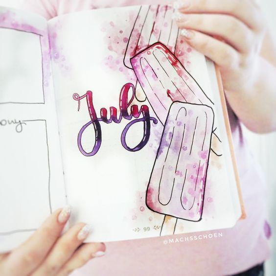 30 bujo pour le mois de Juillet