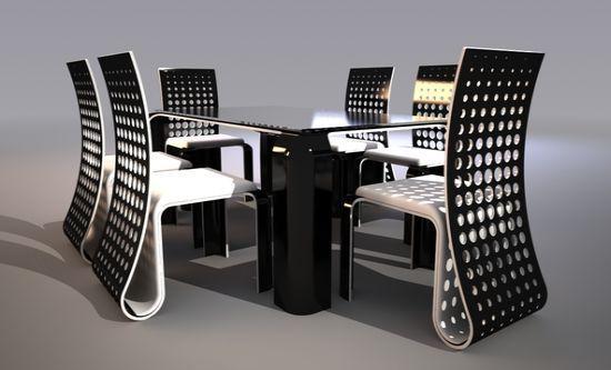 Ergonomic Push Table Dining Set by Svilen Gamolov | Design ...