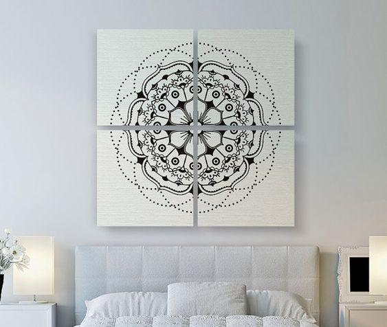 large canvas art large canvas and mandalas on pinterest. Black Bedroom Furniture Sets. Home Design Ideas
