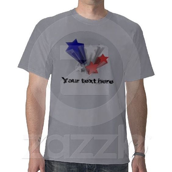 T-Shirt with stars from Zazzle.com