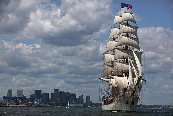 ... is a Schooner from the Liberty Fleet of Tall Ships sailing the harbor