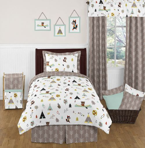 Twin Outdoor Adventure Print Kids Bedding Set Twin Beds For Boys Twin Bed Sets Twin Comforter Sets