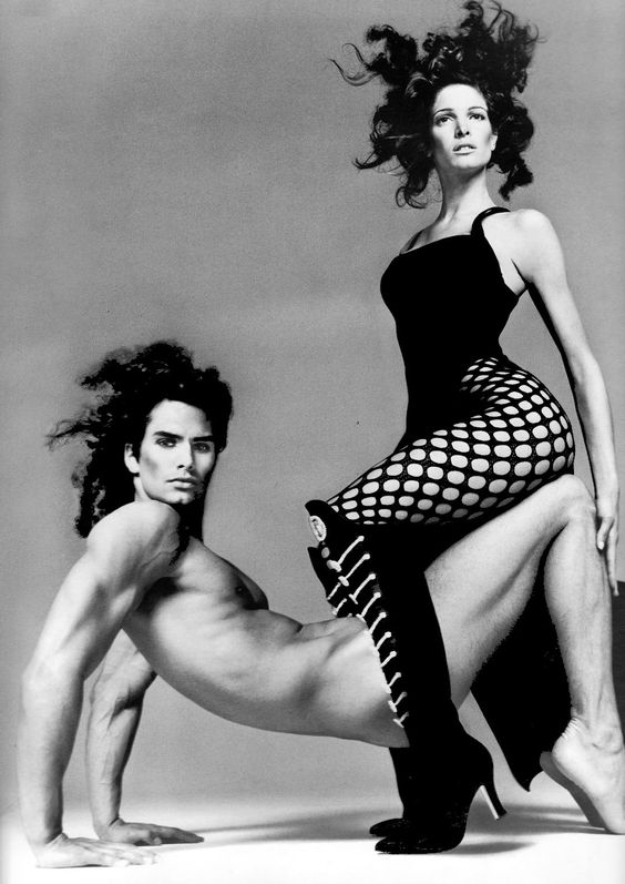 Gianni Versace's fall/winter 1993. Stephanie Seymour Marcus Schenkenberg by Avedon. #VintageVersace