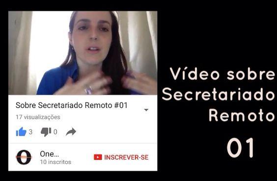 ☑️Nosso primeiro vídeo sobre Secretariado Remoto já está disponível no canal do YouTube: One Consultoria Secretária Remota  em nossa página oficial no facebook/oneconsultoriasecretariaremota ou em nosso site: oneconsultoriasr.com.br