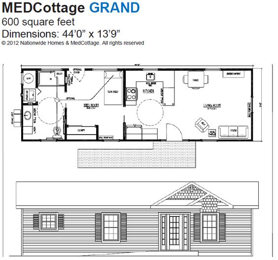 Medcottage Grand Floor Plan Tiny Houses Pinterest We