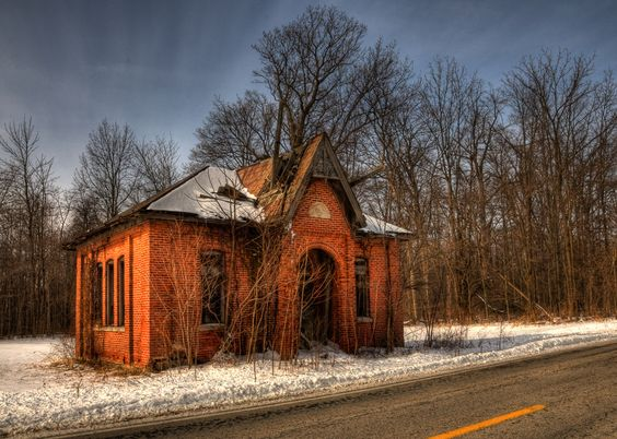 An abandoned one room school house near decatur indiana places time forgot pinterest - The house in the abandoned school ...