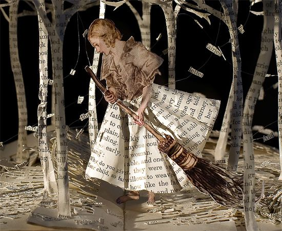 'The Girl in the Wood' Su Blackwell. Amazing, really, really amazing.
