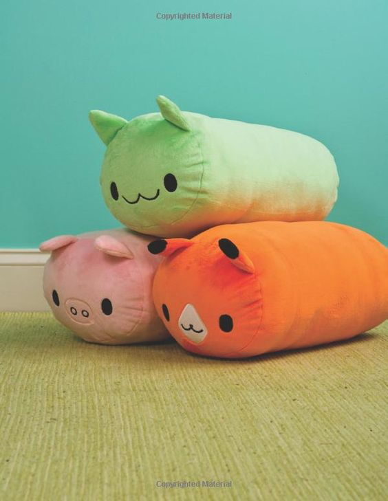 Animal roll pillows!: