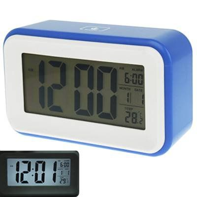 Blue+Multi+Function+Large+Screen+Alarm+Clock+with+Calendar+&+LCD+Light+&+Snooze+Touch