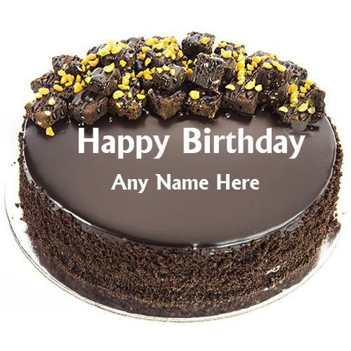 Fine Happy Birthday Chocolate Cake With Name Edit Happy Birthday Personalised Birthday Cards Epsylily Jamesorg
