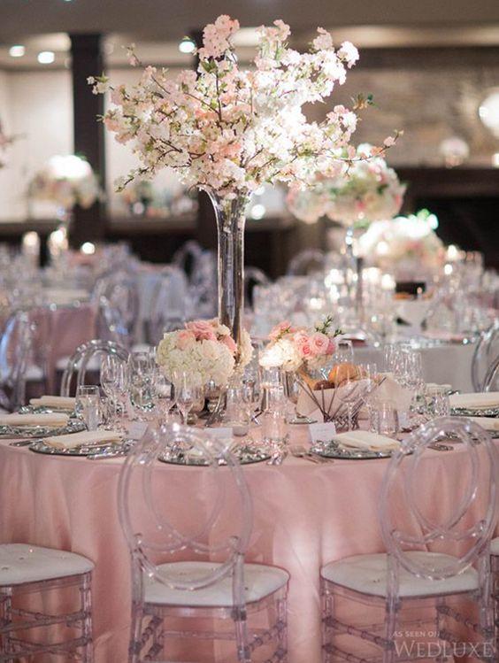 2016 Blush Pink Wedding Reception Decorations