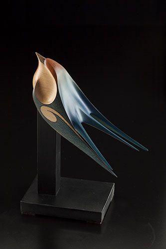 Swallow by Rex Homan, Māori artist (KR150512):
