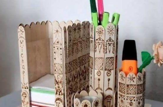 چوب بستنی و ساخت کاردستی خلاقانه با روش های نو ساخت دکوری و