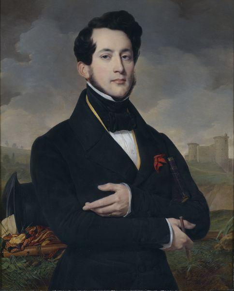 Portrait d'Eugène Guyot, sous-préfet de vendôme , 1837  Artist Alexandre Jean Baptiste Hesse