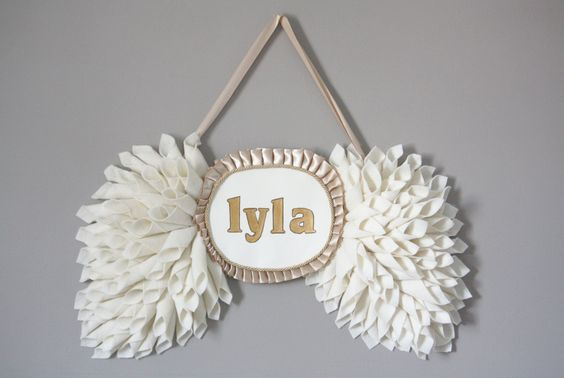 Personalized Wings from Etsy - Perfect #nursery #decor!!