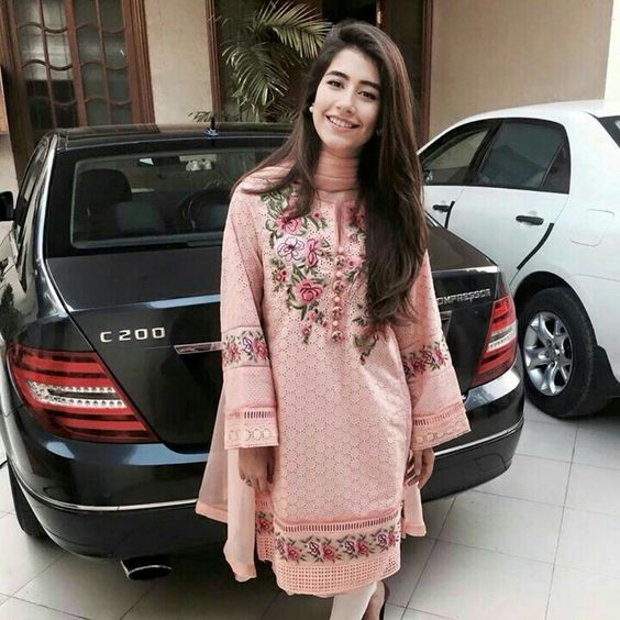 Stitching Styles Of Pakistani Dresses Pink Embroidered Kurta