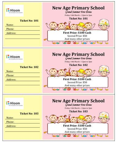 make your own raffle tickets in word