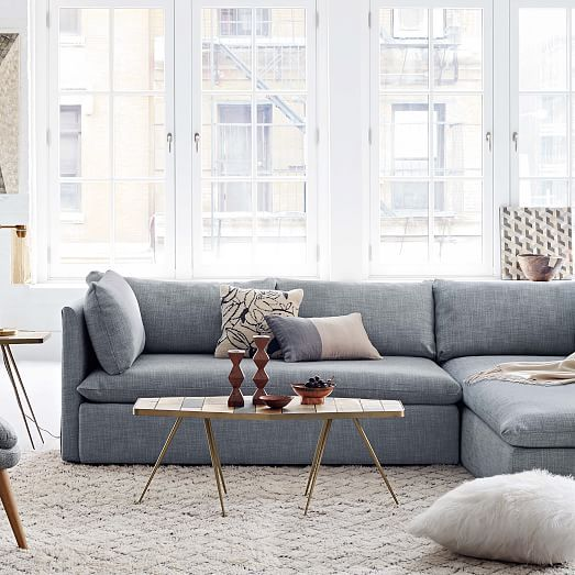 Shelter 2 Piece Terminal Chaise Sectional In 2020 Coastal Style Living Room Sectional Sofa With Chaise Livingroom Layout