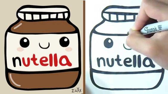 ForKids - Cómo dibujar Recipiente de Nutella Kawaii | How to draw ...