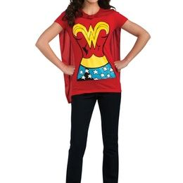 Wonder Woman Adult Costume T-Shirt With Cape on the redditgifts Marketplace