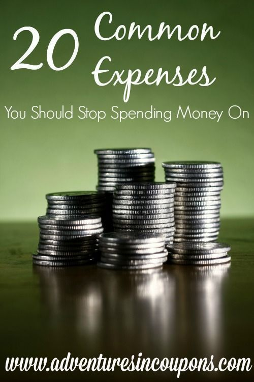 Are you wasting money without even realizing it? I'd bet you are! Check out these 20 common expenses you should stop spending money on and you'll soon find extra money in your budget!: Are you wasting money without even realizing it? I'd bet you are! Chec