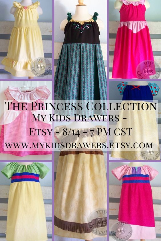Available tomorrow!  These will post to my Etsy page at 7 PM CST on 8/14.  They are all ready-to-ship in a variety of sizes. #mykidsdrawers  #Disney #princess    #disneyclothes  https://www.facebook.com/pages/My-Kids-Drawers/223718661039360