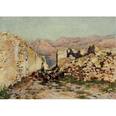 Sicily 1911 Monte San Giuliano Canvas Art - Alberto Pisa (18 x 24)
