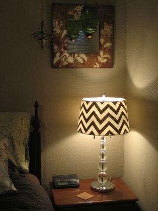 DIY Chevron Stripe Lampshaed