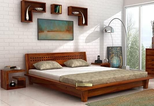 For A Simple And Classic Theme Of Bedroom Interior The Carden Low Floor Platform Bed Would Be Th Contemporary Bedroom Decor Wooden Bed Design Bed Design Modern