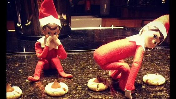 Tweeted by ron white g giggles pinterest for Elf on the shelf pooping on cookies