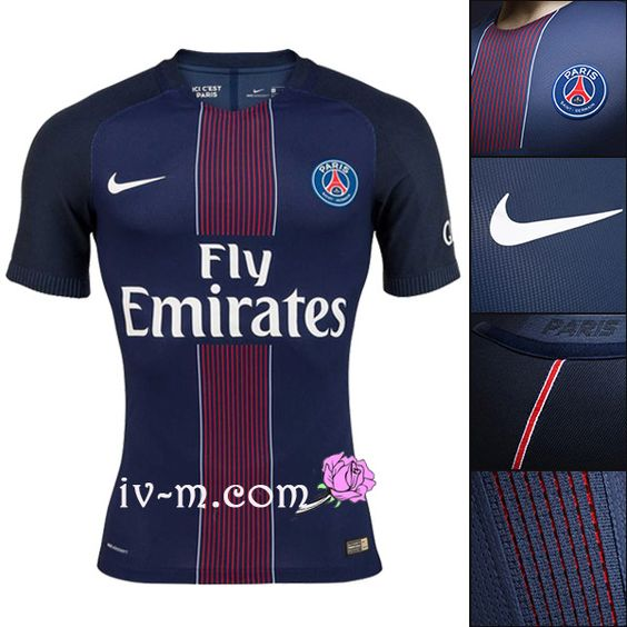 Magasin football maillot psg paris 2016-2017 domicile bleu grossiste