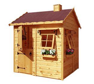 Casa de madera para ni os caba a casitas con pallet pinterest - Casa madera infantil ...