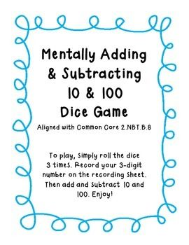 math worksheet : mentally add and subtract 10 and 100 worksheets  adding multiples  : Adding And Subtracting 10 Worksheets