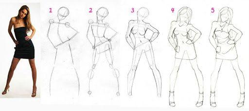 Mujer Paso A Paso Dibujos Con Figuras Cuerpo Humano Dibujo Como Dibujar Cuerpos