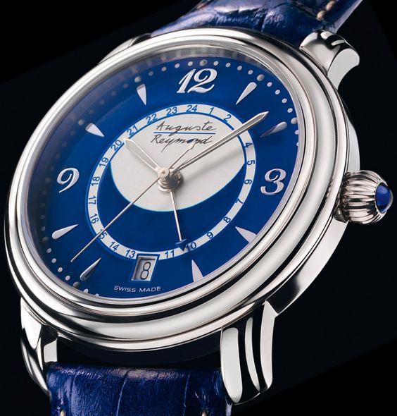 Auguste Reymond | Cotton Club Worldtime | Edelstahl | Uhren-Datenbank watchtime.net