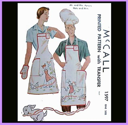 McCall's 1597 His and Hers BBQ Aprons