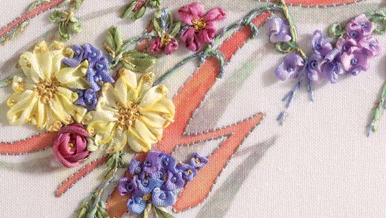 Como fazer flores pequenos bonitos com fita de seda