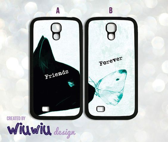 Amazing couple cases Friends Lovers beautiful Cat by WiuwiuDesign