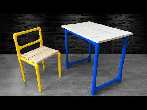 How To Make A Pvc Table And Chair Homemade Table Chair Desktop Bexley Diy Blog In 2020 Homemade Tables Make A Table Kids Table And Chairs