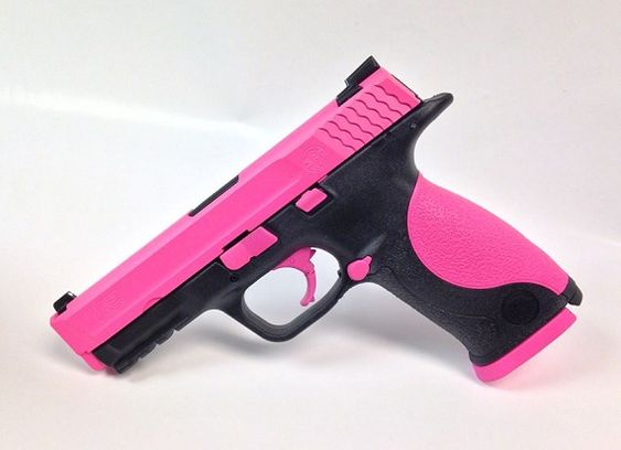 This Is A Hogue Pink Smith Amp Wesson M Amp P 9mm Handgun Great