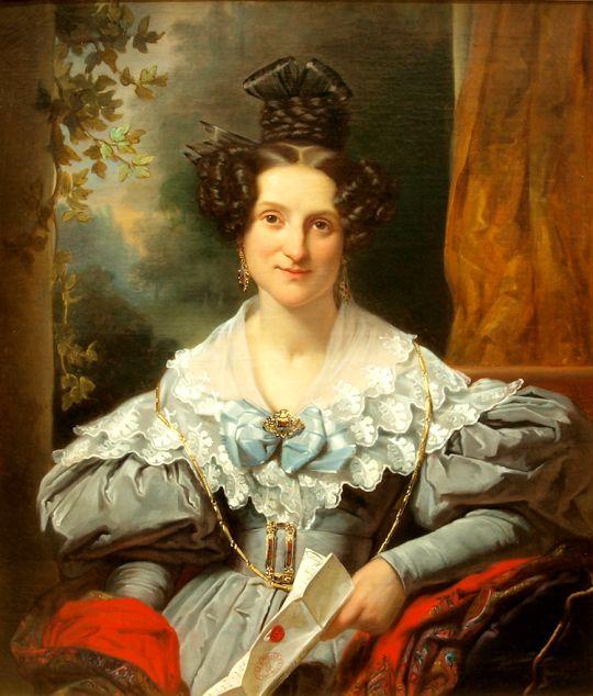 1834 Jan Adam Kruseman - Hendrina Eclasina Geertruida Vinju-Heije. I live the details of the kerchief!