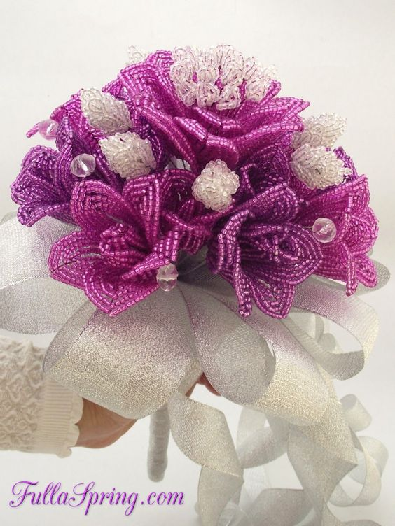 French beaded flower: