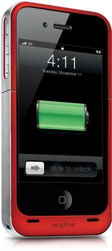 Sale Preis: Mophie Juice Pack Air Battery Case for iPhone 4/4S - Red (Certified Refurbished). Gutscheine & Coole Geschenke für Frauen, Männer und Freunde. Kaufen bei http://coolegeschenkideen.de/mophie-juice-pack-air-battery-case-for-iphone-44s-red-certified-refurbished