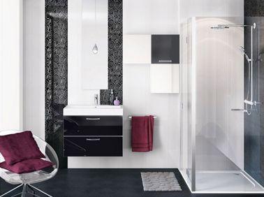 Salle de bain noir et blanc c 39 est la tendance d co for Idee deco salle de bain noir et blanc